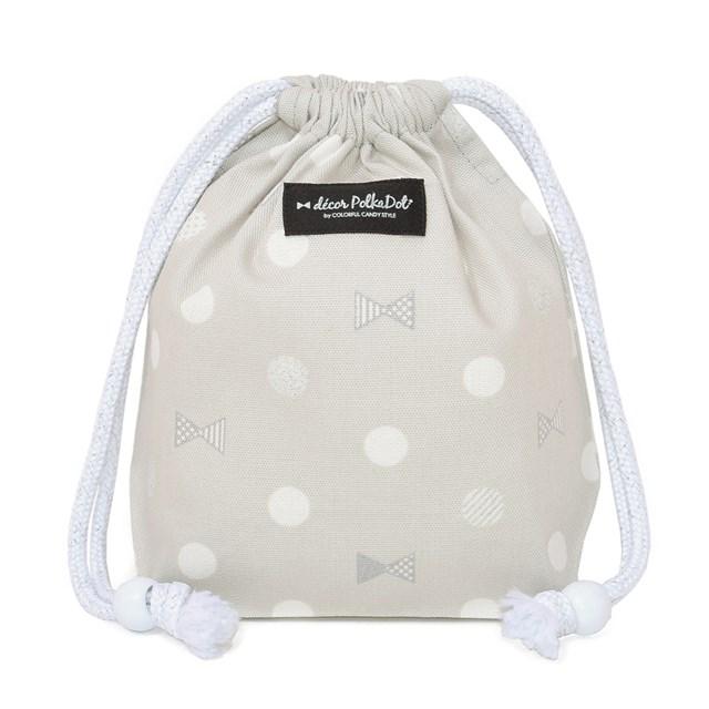 decor PolkaDot 巾着 小 コップ袋 Polka Dot 1着でも送料無料 Ribbon 袋 コップ コップ入れ 保育園 幼稚園 巾着袋 入園準備 年末年始大決算 子供用