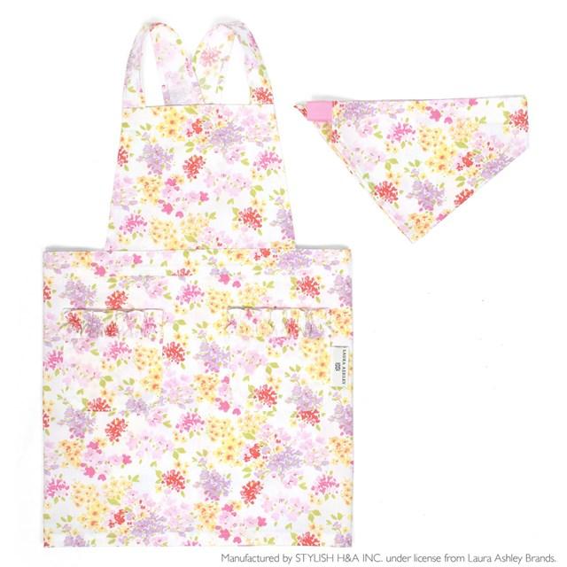 LAURA ASHLEY バッククロス子どもエプロン 100~120cm Amelie 子供用 子供 エプロン 小学生 三角巾 かわいい 幼児 おしゃれ 贈答 セット キッズエプロン 可愛い 買物