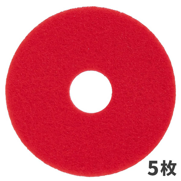 3M スコッチブライト レッドバッファー パッド 赤 14インチ (5枚入) RED_355X82
