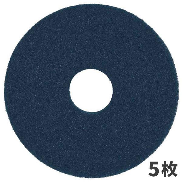 【単品配送】 3M スコッチブライト ブルークリーナー パッド 青 15インチ (5枚入 @1枚あたり \4246) BLU_380X82