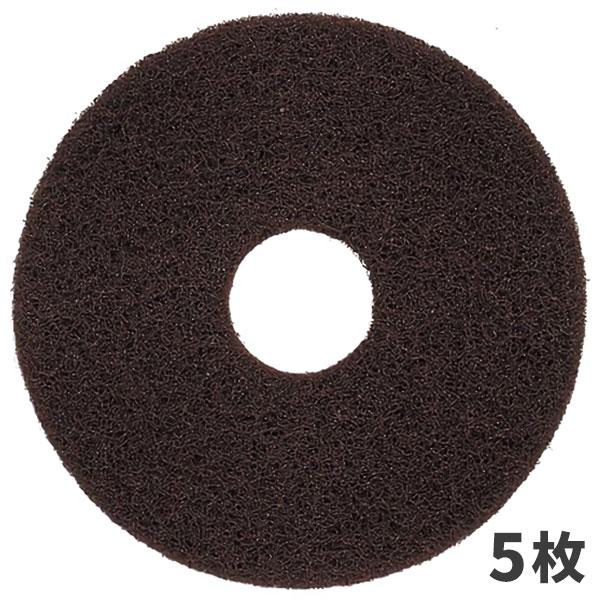 3M スコッチブライト ブラウンストリッパー パッド 茶 17インチ (5枚入) BRO_432X82