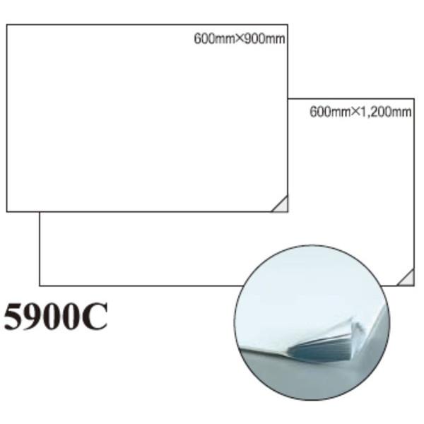 【単品配送】 3M ソールマット 5900C 白 600×900mm (6マット入 @1マットあたり \7883.4) 5900C_600X900