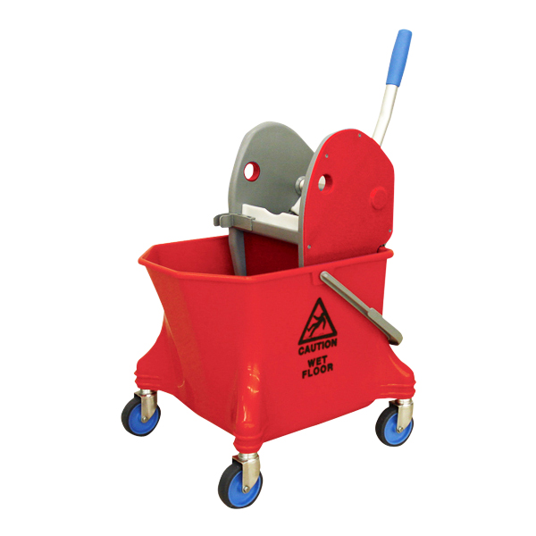 【単品配送】 CxS シーバイエス リンガーバケツセット(赤) 同色セット(絞り器1・バケツ1) 5177294