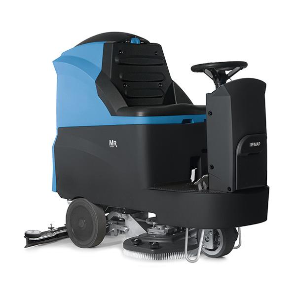 【単品配送】 ペンギンワックス/FIMAP 搭乗式床洗浄機 MR75B 15インチX2 本体(シールドバッテリー付き・充電器内臓) 9090/9002