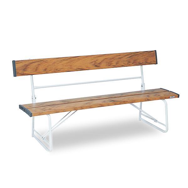 【単品配送】 テラモト ベンチ 1500 背付 木調 BC-300-015-9