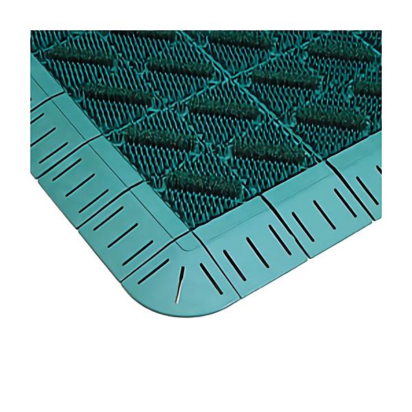 【単品配送】 テラモト カラーブラッシュ ふち付 600×900mm 緑 MR-096-240-1