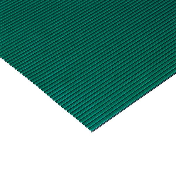 【単品配送】 テラモト 筋入ゴム 5mm厚 1m×20m 緑 () MR-142-210-1