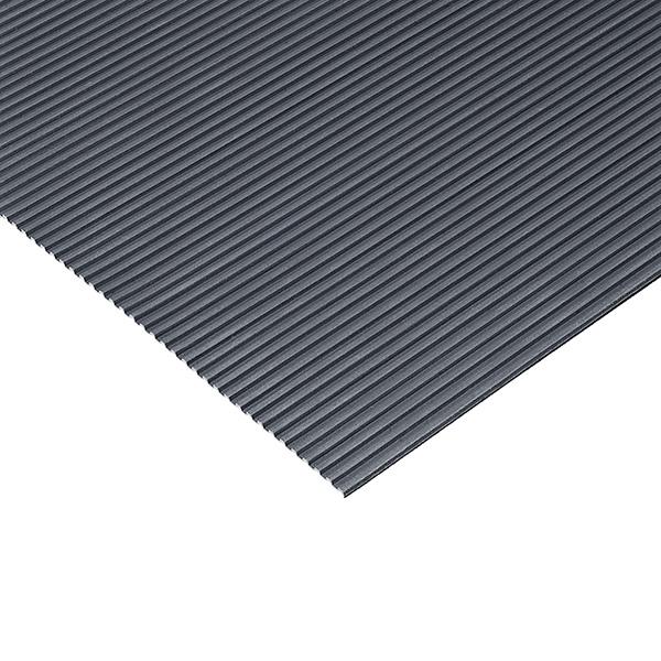 【単品配送】 テラモト/イルマゴム 筋入ゴム 5mm厚 灰 1.2m×20m MR-142-220-5 [代引不可]