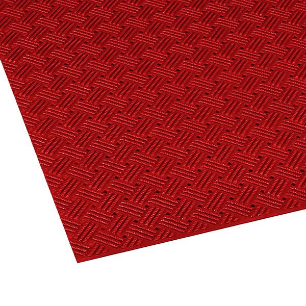 テラモト ダイヤマットグリッド 92cm×10m 赤 (代引不可) MR-159-000-2