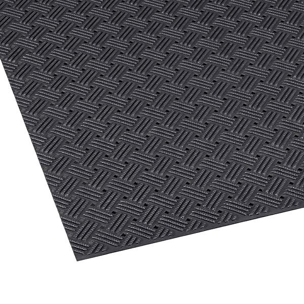 テラモト ダイヤマットグリッド 92cm×10m 黒 (代引不可) MR-159-000-7