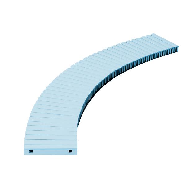 【単品配送】 テラモト 樹脂グレーチング (プール用) 180mm幅 180×1000mm ブルー MR-074-018-3