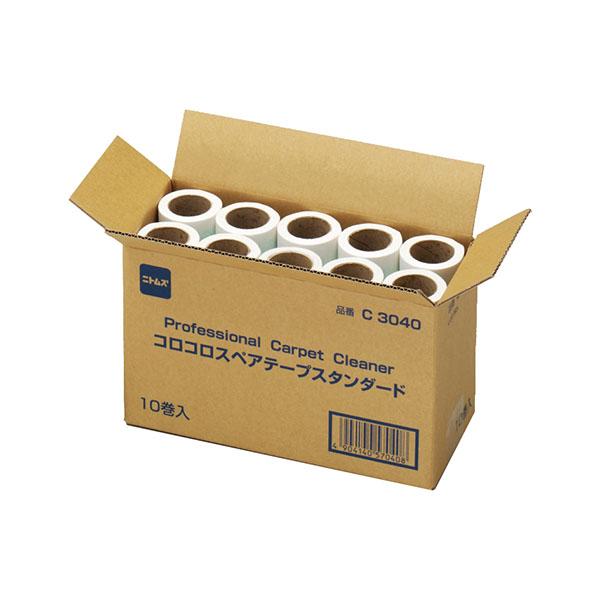テラモト オフィスコロコロ スペア10巻入 160mm C3040 (10箱入) CL-664-710-0