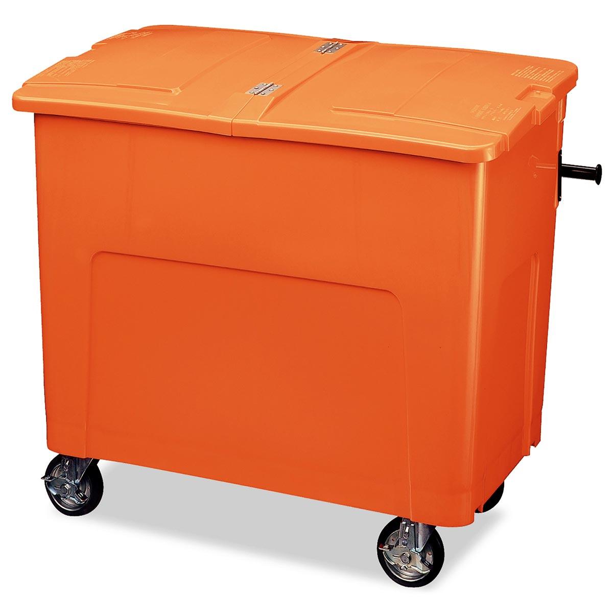 テラモト リサイクルカートアウトバー 0.6(約600L) オレンジ (代引不可) DS-224-060-7