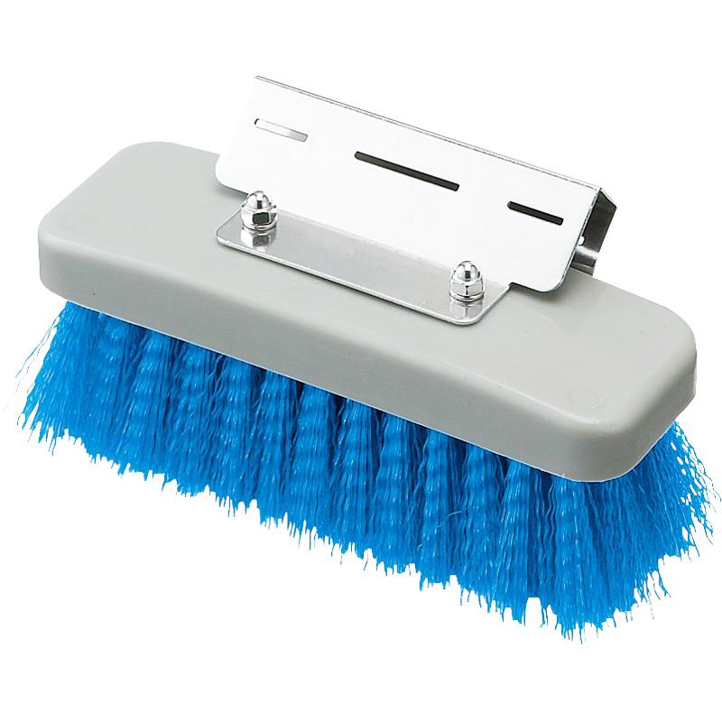 業務用 掃除 清掃 内祝い 新商品 デッキブラシ 単品配送 9 16までセール価格 山崎産業 HGワンタッチブラシ \1294.7 @1個あたり 青 10個入 CL520-000X-MB-BL BL 代引不可 清掃用品