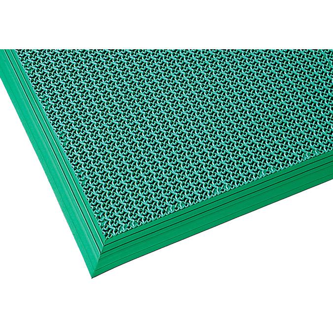 【単品配送】 山崎産業 ブイステップマット13 オーダーサイズ踏込み用縁付 1平米/価格 G(緑) F-126-OR-TF-G