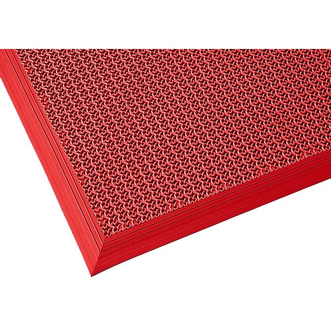 山崎産業 ブイステップマット13 オーダーサイズ踏込み用縁付 1平米/価格 R(赤) (代引不可) F-126-OR-TF