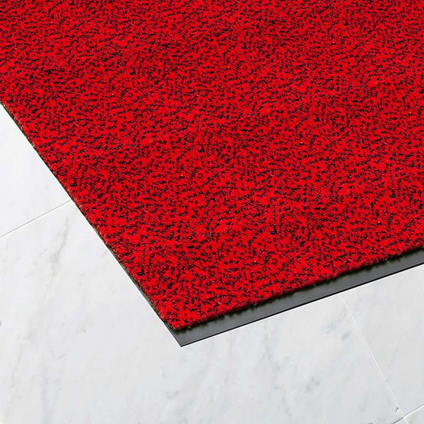 【単品配送】 山崎産業 ロンステップマット ランナーW 180cm幅 R/B(赤黒) (10m入 @1mあたり \13596) F-1-RW-RB