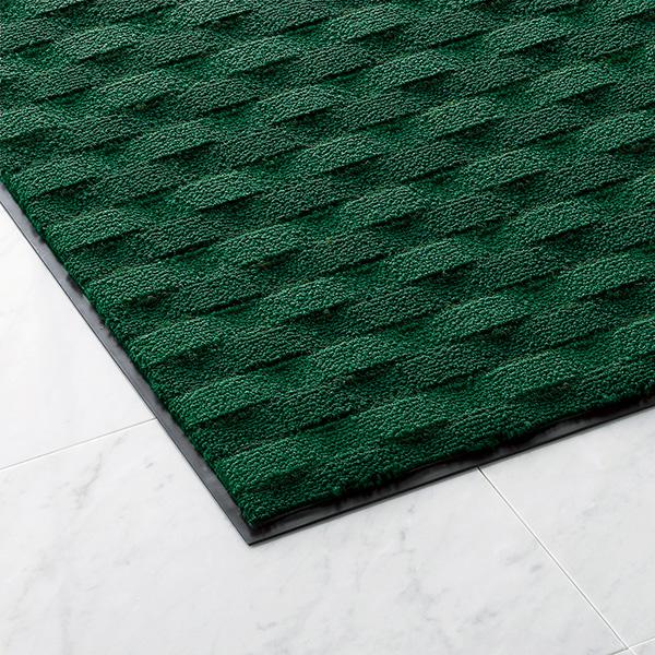 山崎産業 吸水マット ダブルウェーブ ランナーW 180cm幅 G(緑) (10m入) (代引不可) F-205-RW