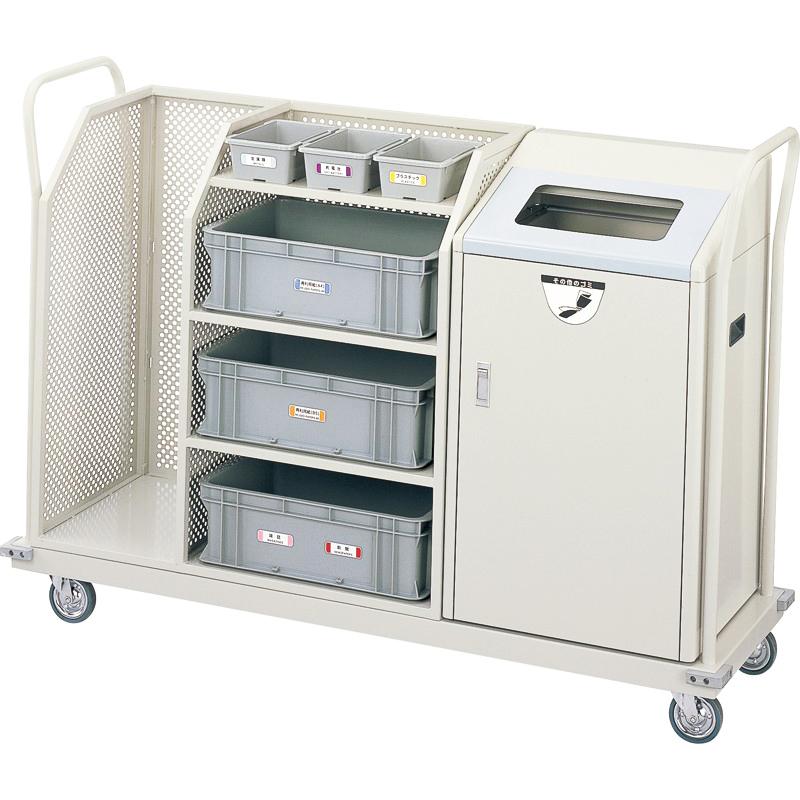 【単品配送】 【3/11までセール価格】 山崎産業 リサイクルボックス RBK-500SP 1段キャリー YW-102L-ID [代引不可]