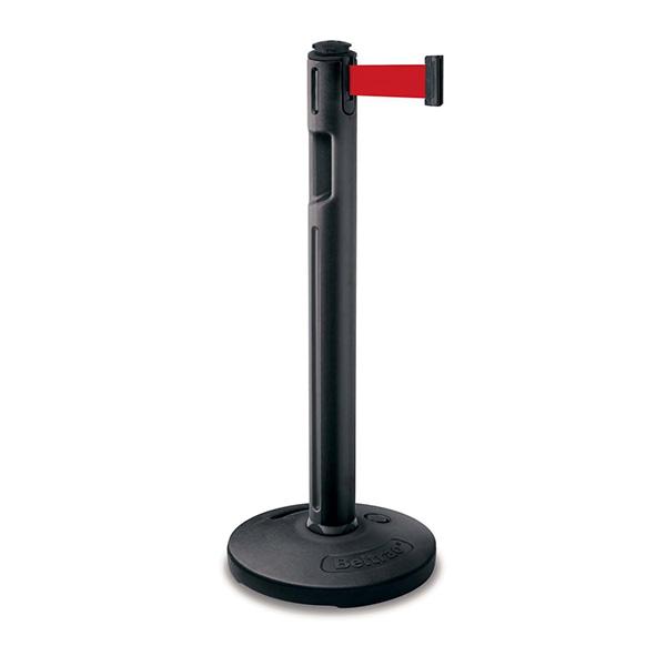 【単品配送】 山崎産業 ガイドポール 80-5000 (注水タイプ) 支柱B 黒/ベルトR 赤 YG-31L-PC
