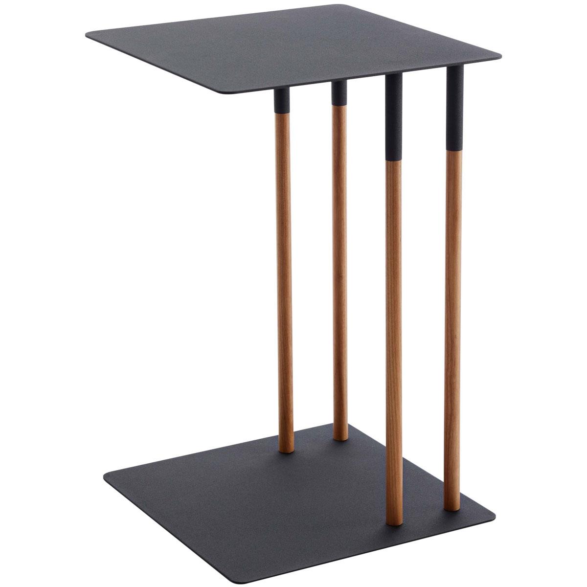 サイドテーブル 山崎実業 PLAIN 差し込みサイドテーブル ソファ ベッド リビング 寝室 天然木 コーヒーテーブル ナイトテーブル YAMAZAKI プレーン ブラック