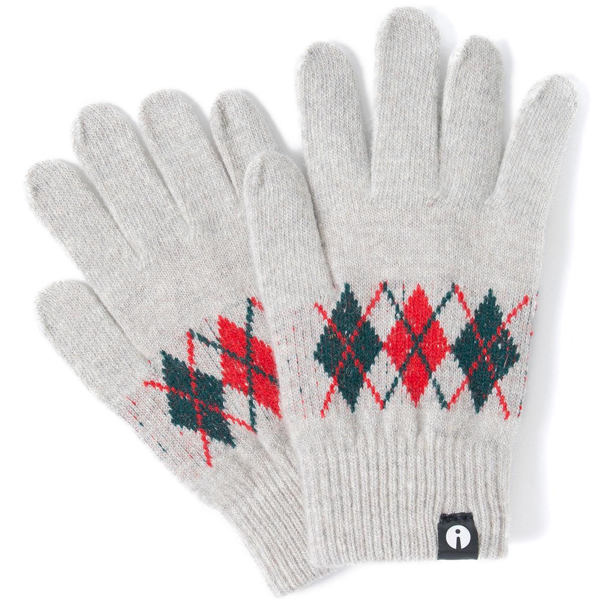 3 980円以上で送料無料 iTouch Glovesのスマホ手袋 再再販 Sサイズ 2019-2020新作がおしゃれ スマホ手袋 Gloves 2019-2020新作 スマホ対応手袋 ウール レディースサイズ アーガイル ライトグレー スマートフォン対応 タッチパネル操作 低廉 アイタッチグローブ