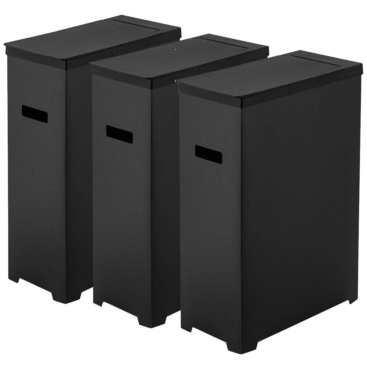 毎日続々入荷 送料無料 山崎実業のゴミ箱 TOWER スリム蓋付きゴミ箱 3個組がおしゃれ ゴミ箱 山崎実業 輸入 3個組 分別ゴミ箱 シンプル ダストボックス 45L ブラック 白 YAMAZAKI おしゃれ ごみ箱 黒 タワー
