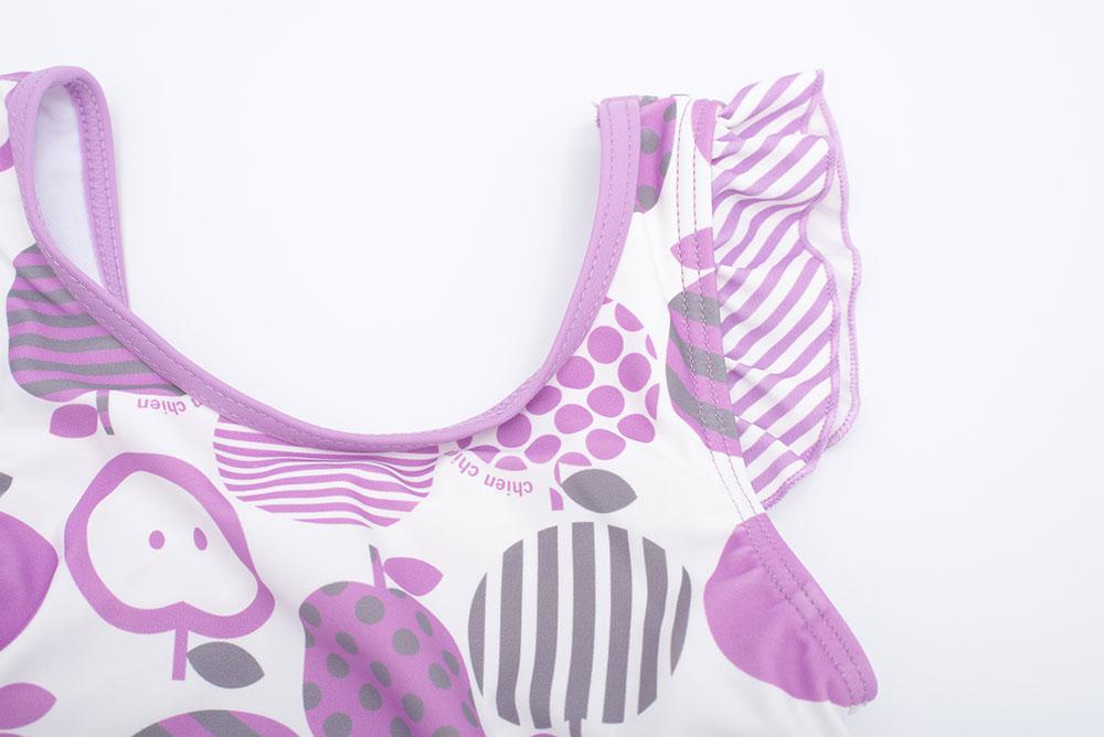 베이비/아이 수영복/사과 프린트 원피스 수영복 캡 첨부