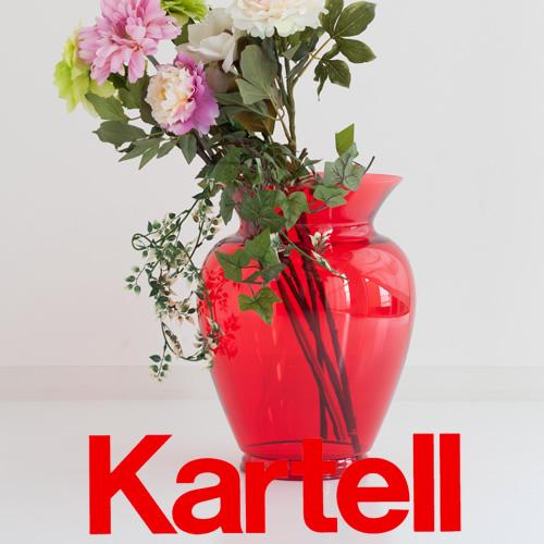 Kartell カルテル 【BOHEME】ボエム フラワーベース/レッド 8873-V5 ●