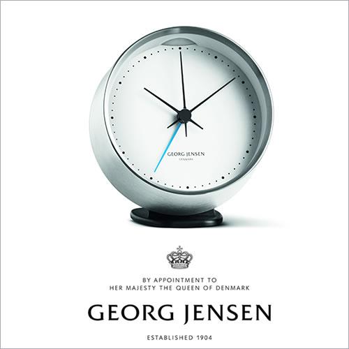 Georg Jensen ジョージ ジェンセン HK アラームクロック(10CM)(3587585)_dp10