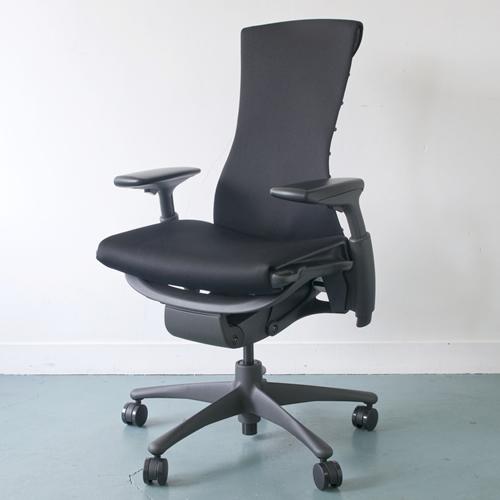 EG-01 Herman Miller ハーマンミラー Embody Chair エンボディチェア(グラファイト×グラファイト)ファブリック:リズム:ブラック【送料無料】_dp05
