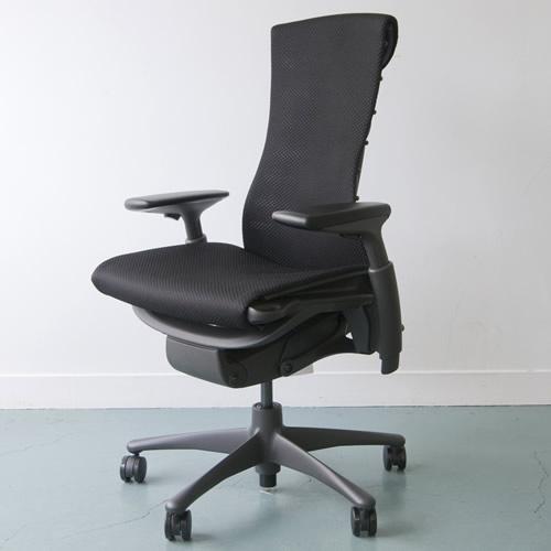 EG-02 Herman Miller ハーマンミラー Embody Chair エンボディチェア(グラファイト×グラファイト)ファブリックバランス:ブラック【送料無料】_dp05