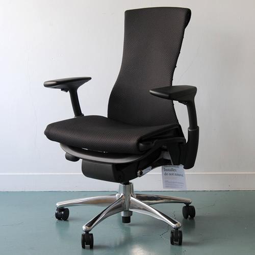 PG-01 Herman Miller ハーマンミラー Embody Chair エンボディチェア(ポリッシュドアルミニウム×グラファイト)バランス:ブラック【送料無料】_dp05
