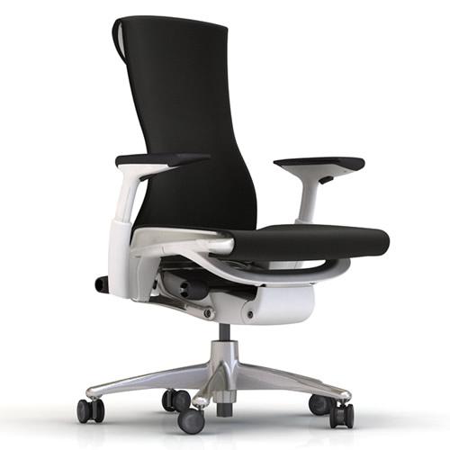 XW-01 Herman Miller ハーマンミラー Embody Chair エンボディチェア(チタニウム×ホワイト)バランス:ブラック【送料無料】_dp05