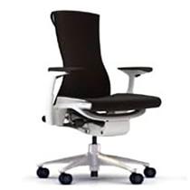 PW-01 Herman Miller ハーマンミラー Embody Chair エンボディチェア(ポリッシュドアルミニウム×ホワイト)バランス:ブラック【送料無料】_dp05
