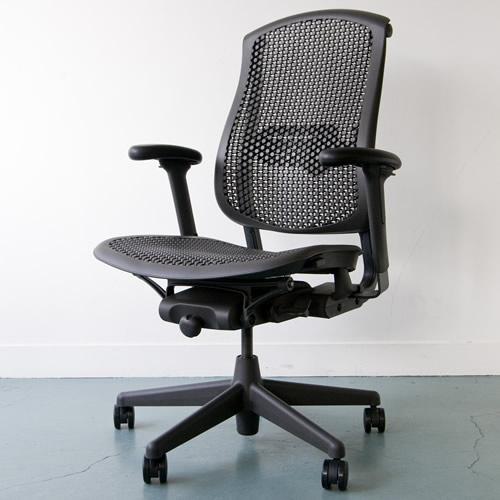 C-01 Herman Miller ハーマンミラー セラチェア Celle Chairs (グラファイト×グラファイトカラーベース)ファブリック無し 【送料無料】_dp05