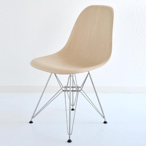 E5-2 Herman Miller ハーマンミラー Eames Shell Side Chairs イームズウッドシェルチェア DWSR/ホワイトアッシュ×クロームベースDWSR.47A2 【送料無料】_dp05