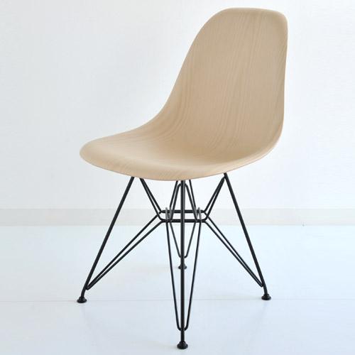 E5-5 Herman Miller ハーマンミラー Eames Shell Side Chairs イームズウッドシェルチェア DWSR/ホワイトアッシュ×ブラックベースDWSR.BKA2 【送料無料】_dp05