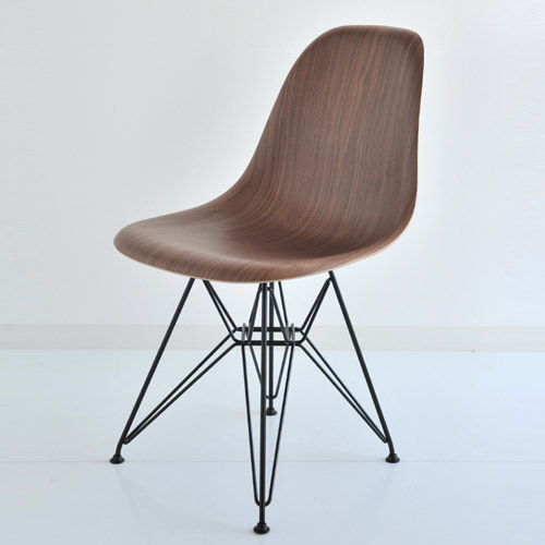 ハーマンミラー イームズウッドシェルチェア ウォールナット×ブラックベース E5-1 Herman Miller Eames Shell Side Chairs DWSR DWSRBKOUE8【送料無料】_dp05