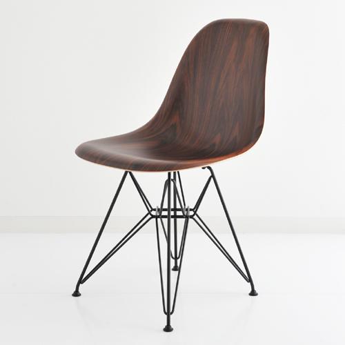 E5-3 Herman Millerハーマンミラー Eames Shell Side Chairs イームズウッドシェルチェア DWSR/サントスパリサンダー×ブラックベース DWSRBK9N 【送料無料】_dp05
