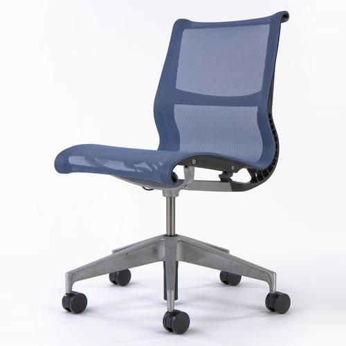 ST-03 Herman Miller ハーマンミラー setu chairs セトゥーチェア マルチパーパスチェア 5本脚タイプ キャスター付 アームなし/ベリーブルー×グラファイトフレーム【送料無料】_dp05