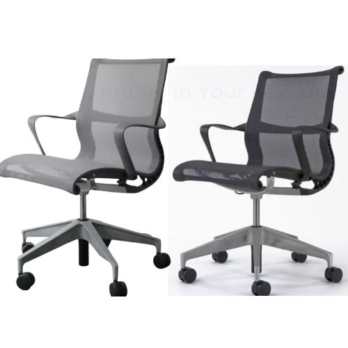 ハーマンミラー セトゥーチェア マルチパーパスチェア 5本脚タイプ リボンアーム付 キャスター付 グラファイトフレーム Hアロイ Herman Miller setu chairs ST-01 ST-05 _dp05