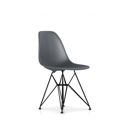EB-12 Herman Miller ハーマンミラー Eames Shell Side Chairs イームズシェルサイドチェア DSR(ブラックベース)/チャコール DSR.BK.CHL.E8【送料無料】_dp05