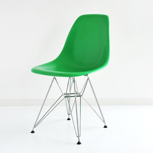 E4-6 Herman Miller イームズファイバーグラスシェルサイドチェア DFSR(クロームベース)/グリーン DFSR 47 116E8【送料無料】ハーマンミラー Eames Molded Fiberglass Shell Side Chairs_dp05