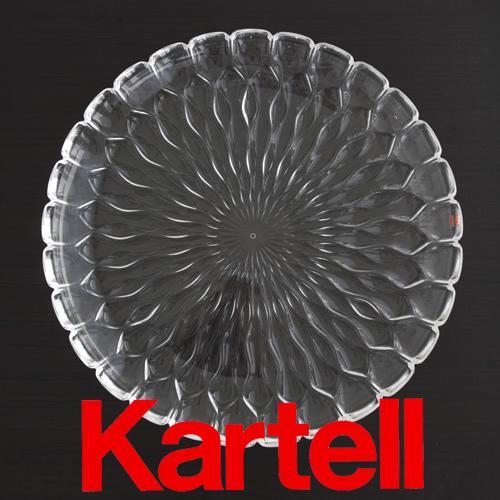 Kartell (カルテル) JELLY PLATE プレート/クリスタル(クリア) JELP-1226-B4 ジェリー テーブルセンタープレート ●_dp15