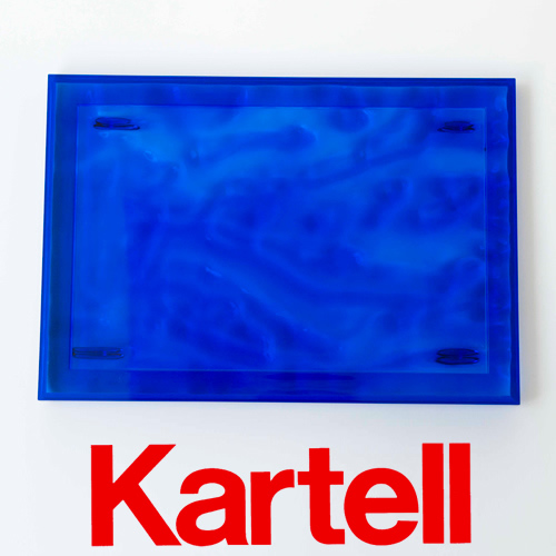 Kartell (カルテル) Dune デューン トレイ Sサイズ/ブルー DUNE-1200-VB ●_dp15