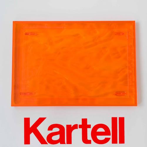 Kartell (カルテル) Dune デューン トレイ Sサイズ/オレンジ DUNE-1200-VA ●_dp15