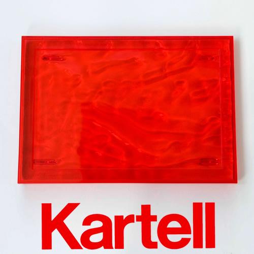 Kartell (カルテル) Dune デューン トレイ Sサイズ/レッド DUNE-1200-VR ●_dp15