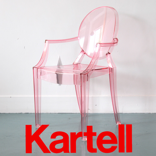 Kartell(カルテル)子供イスLOU LOU GHOST ルールーゴースト キッズ用チェア/クリアピンク LLOU-2852-Y2 ●_dp15