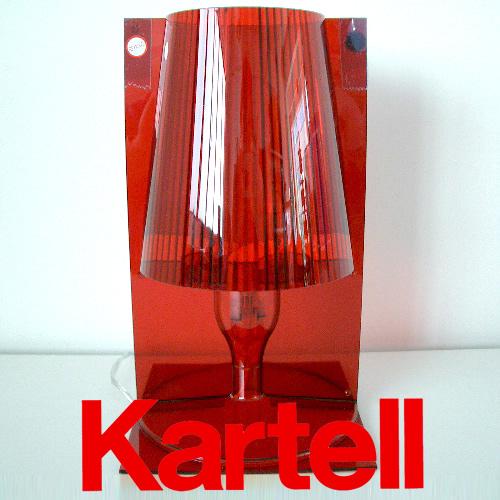 Kartell (カルテル) TAKE テイク テーブルスタンドライト/レッド TAKE-9050-Q3 ●_dp15